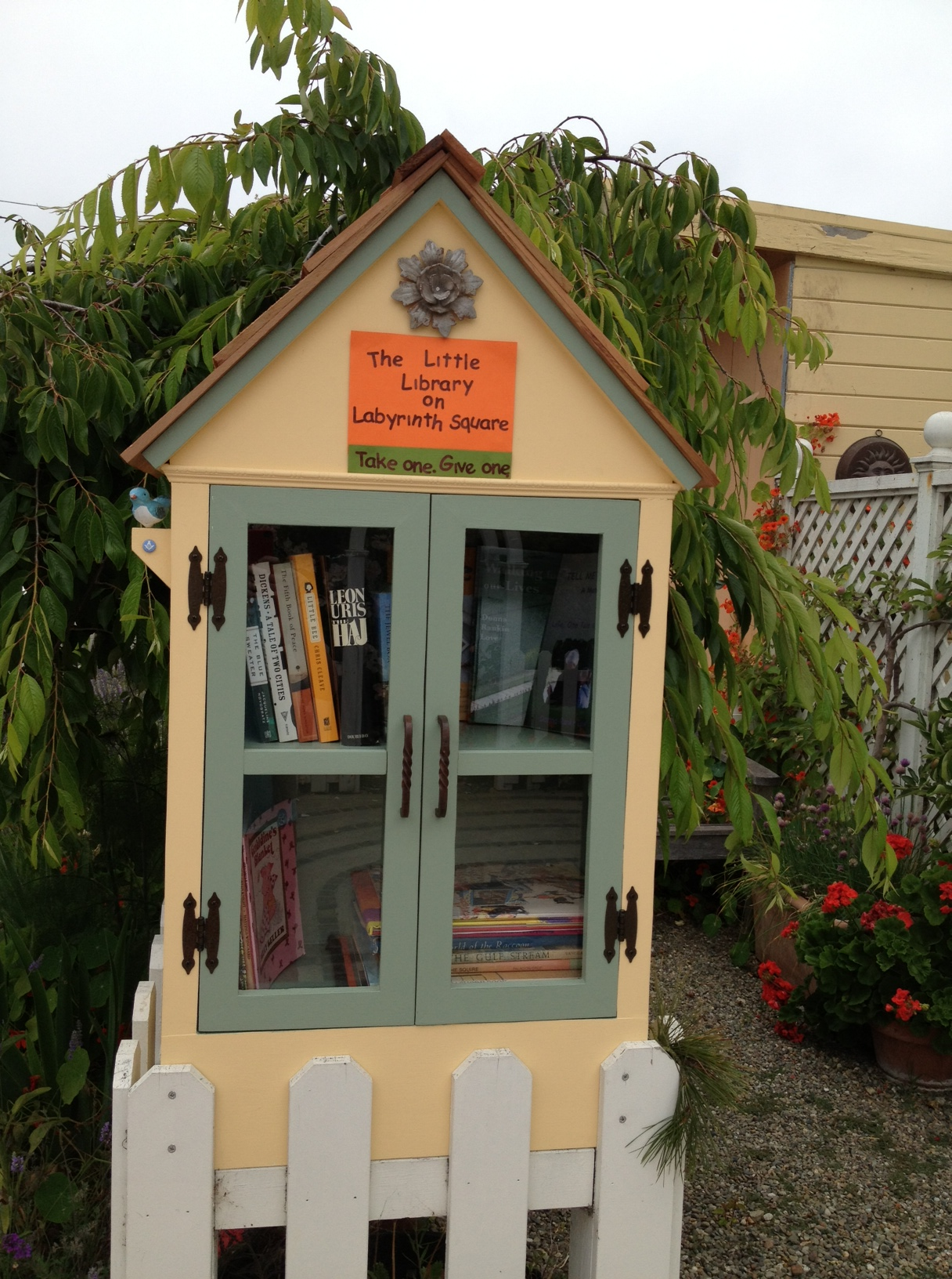 The Little Library On Labyrinth Square Writing For Our Lives